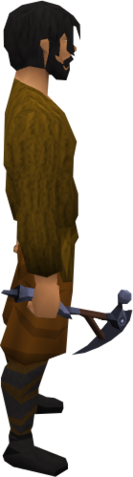 File:Mithril pickaxe equipped.png