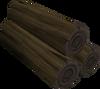 Black logs detail