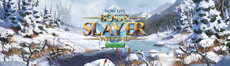 Bossing and Slaying Winter Weekend head banner