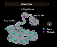 Glacor Cave map