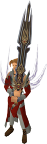 Lost sword of King Raddallin equipped