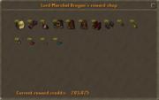 Lord Marshal Brogan's reward shop