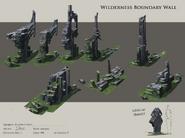 Wilderness boundary wall concept art