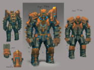 Level 90 melee tank armour concept art
