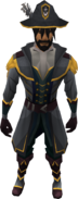 Western Captain's outfit equipped (male)