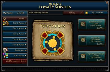 Loyalty shop