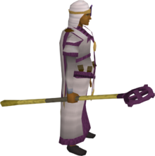 Ancient crozier equipped
