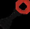 Black key crimson detail