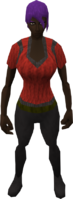 Retro frilled blouse (female)