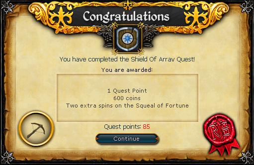 Shield of Arrav reward old