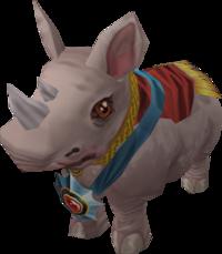 White royal rhino