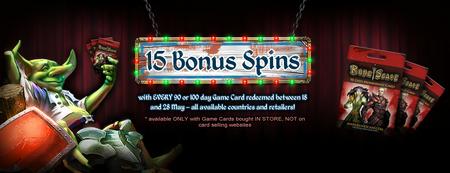 SoF - 15 Bonus Spins Banner