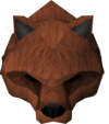 Werewolf mask (red, female) detail