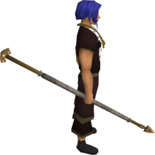 Bronze spear equipped