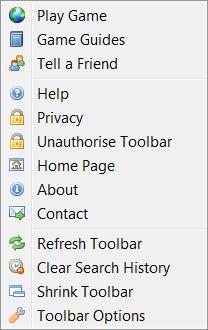 Runescape bar Slide menu
