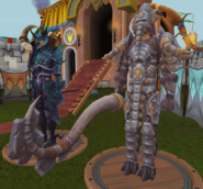 Elite Mammoth Armour equipped