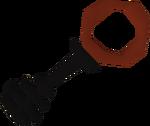 Black key red detail