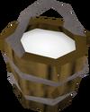 Bucket of milk detail