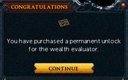 Permanently unlocking the wealth evaluator