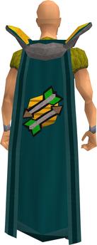 Retro fletching cape equipped