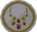 Gem necklace token