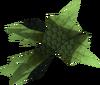 Green spiky vambraces detail
