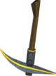 Gilded steel pickaxe detail