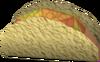 Chicken-filled flatbread detail