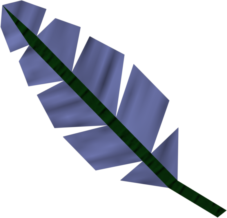 Detailed image of blue feather