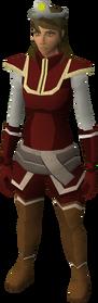 Cosmic tiara equipped
