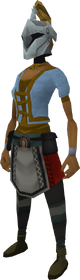 Rune heraldic helm (Dorgeshuun) equipped