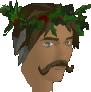 Holly wreath chathead