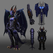 Attuned King Black Dragon outfit concept art