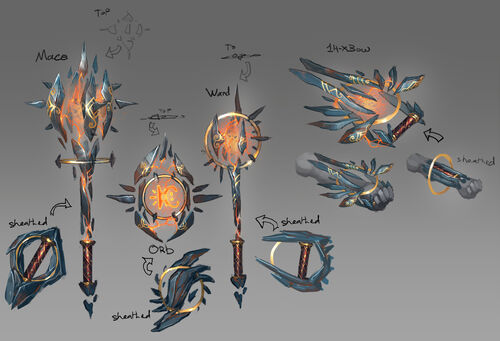 Sharded weapons concept art