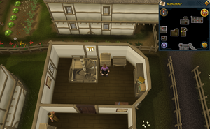 Simple clue East Ardougne upstairs pub drawers