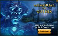 Memorial to Guthix popup