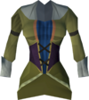 Colonist's dress top (yellow) detail