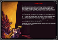 First botting warning