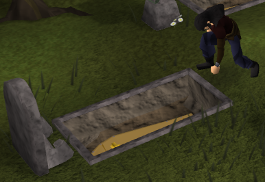 File:Gravedigger digging up or burying a coffin.png