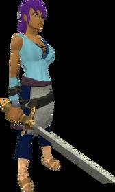 Profound decorative sword equipped