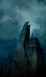 Castle Drakan side concept art