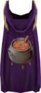 Hooded cooking cape detail