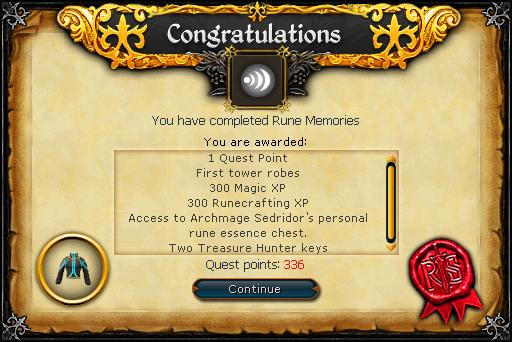 Rune Memories reward