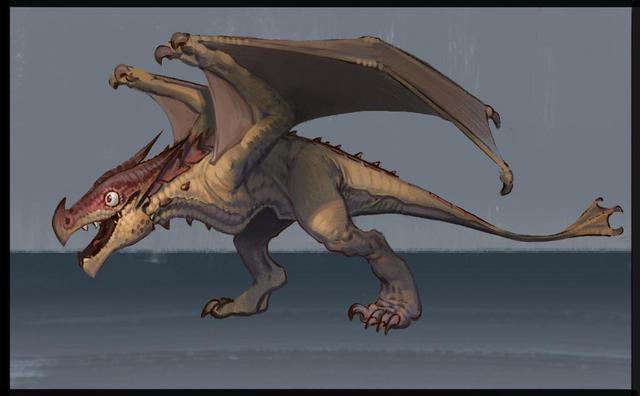File:Fire Drake (adolescent) concept art.png