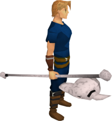Skull sceptre equipped