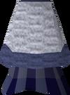 Blue elegant skirt detail