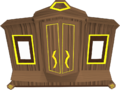 Gilded magic wardrobe built