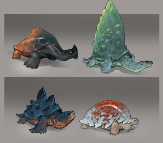 File:Eastern Lands - Arc turtles concept art.png