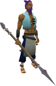 Fractite spear equipped