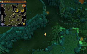 Scan clue Brimhaven Dungeon lower level north-west side of fire giant chamber